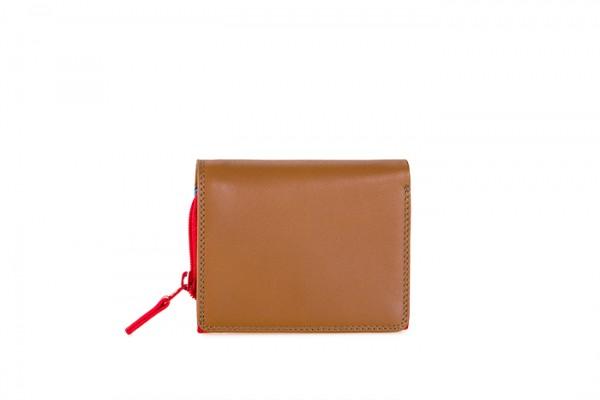 Kleingeldbörse mit Umschlagklappe Caramel