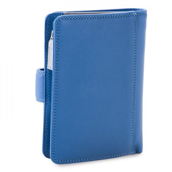 RFID Medium Snap Wallet River Blue