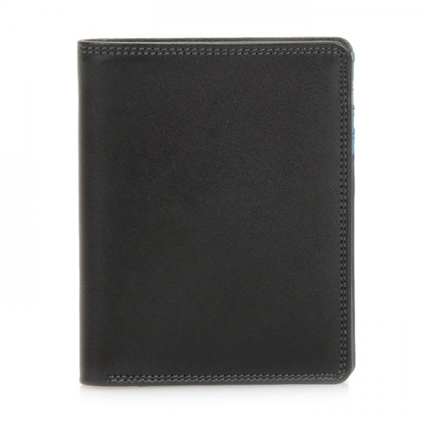 Medium Slim Wallet Black Smokey Grey