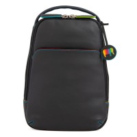 Office Small Leather Cross Body Backpack Black Pace