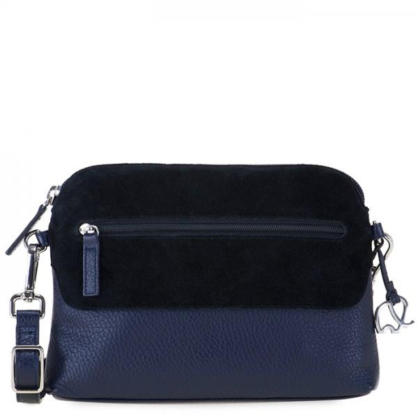 Bolso de hombro Pompei con cierre de cremallera Azul
