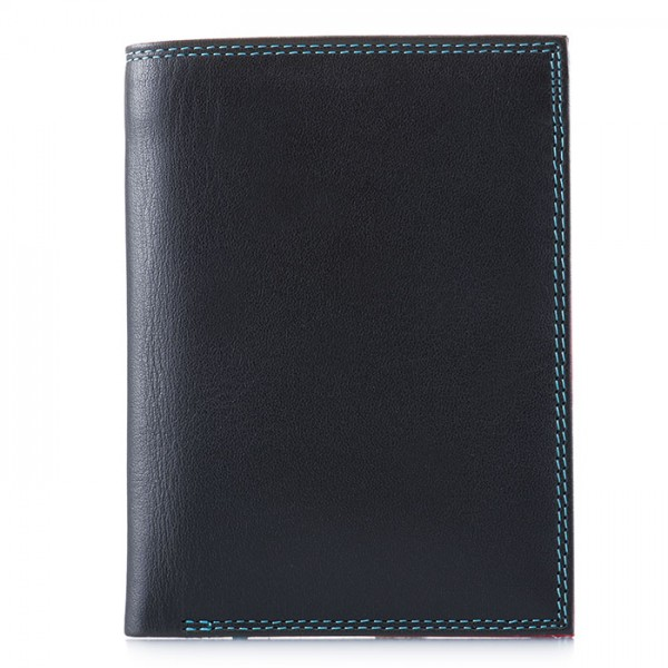 Men's Wallet w/Zip Section Black Pace