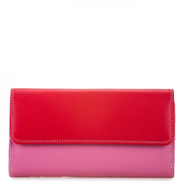 Tri-fold Zip Wallet Ruby