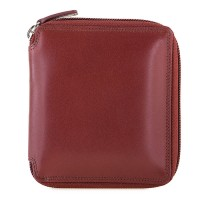 RFID Men's Zip Around Wallet Brown-Yellow