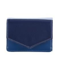 Tri-fold Leather Wallet Denim