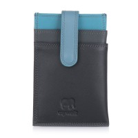 Money Clip CC Holder Black Smokey Grey
