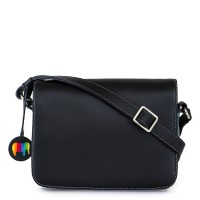 Rhodes Flapover Crossbody Black