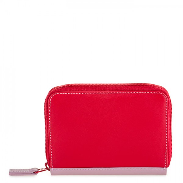 Zipped Credit Card Holder Ruby