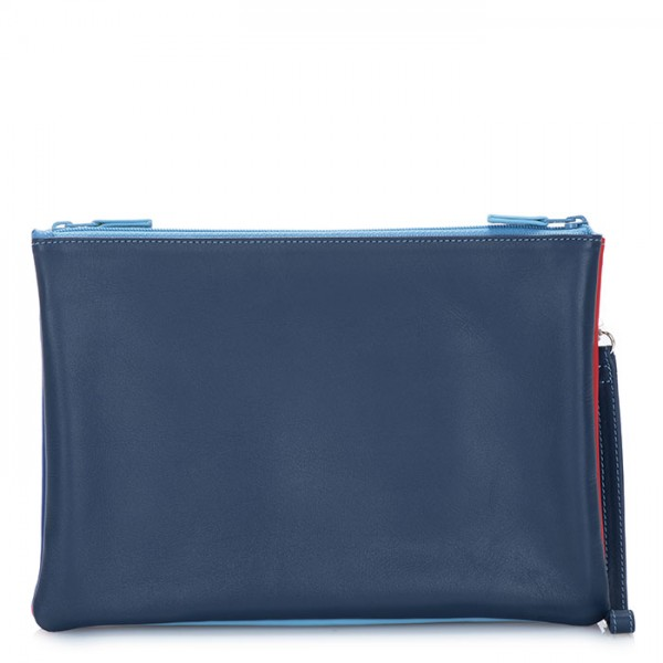Medium Double Zip Pouch Royal