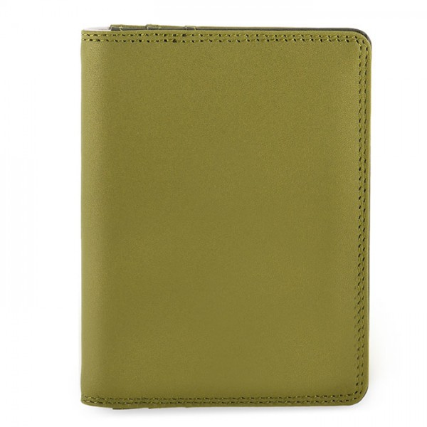 Credit Card Holder w/Plastic Inserts Olive