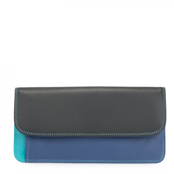 Simple Flapover Purse/Wallet Black Pace