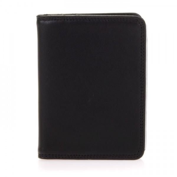 Porta carte di credito con inserti in plastica Nero