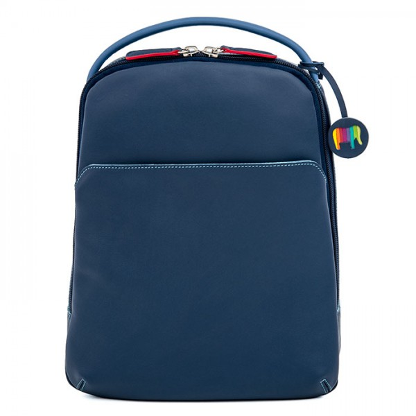 Office Large Leather Cross Body Backpack Royal