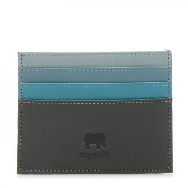 Double Sided Credit Card Holder Smokey Grey