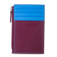RFID CC Holder with Coin Purse Plum-Caribbean