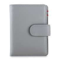 RFID Medium Snap Wallet Grey
