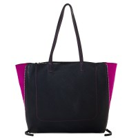 Icon Shopper Black-Pink
