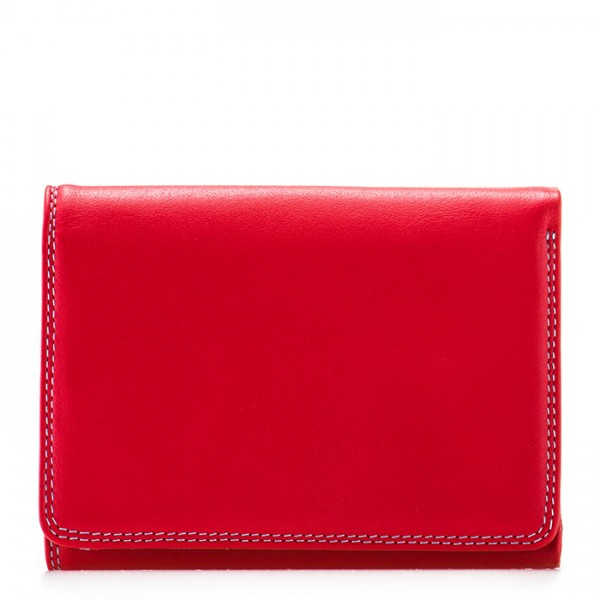 RFID Small Tri-fold Wallet Red
