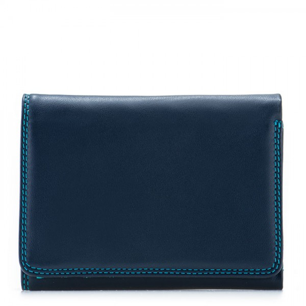 RFID Small Tri-fold Wallet Navy
