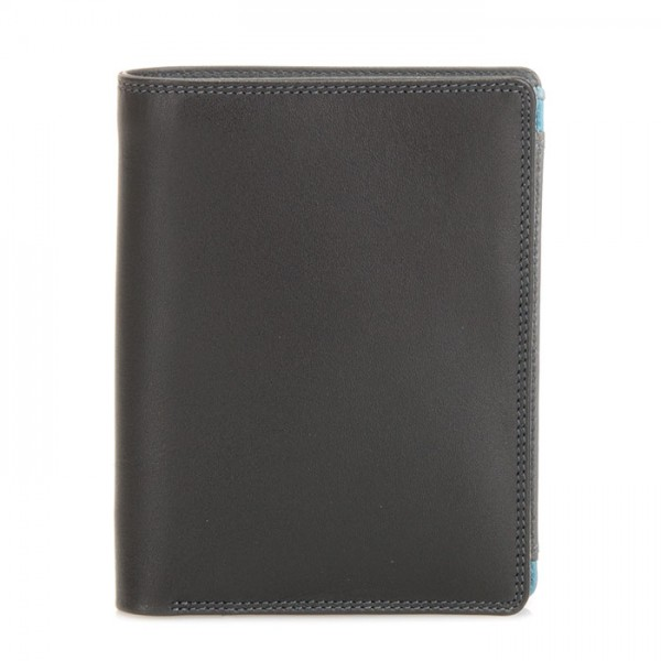 Wallet w/inner Leaf & Coin Pocket Black Smokey Grey