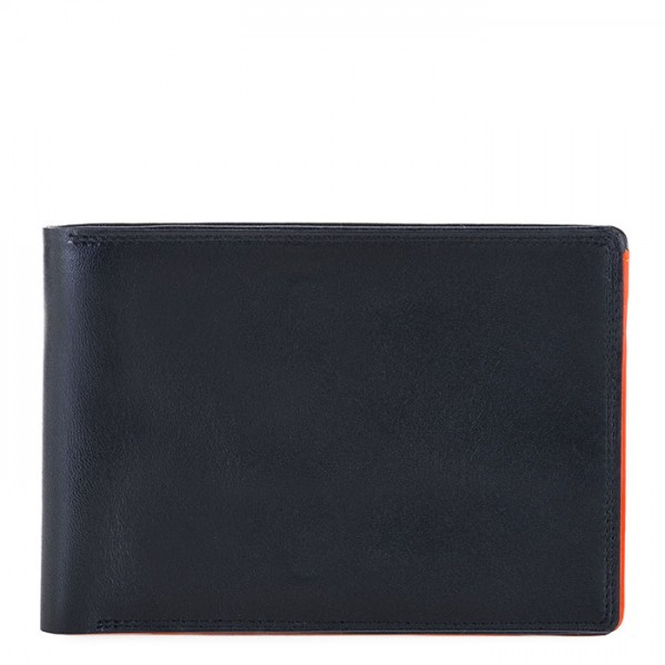 RFID Men's Passport Wallet Black-Orange