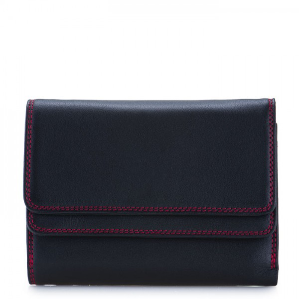 RFID Double Flap Purse/Wallet Black