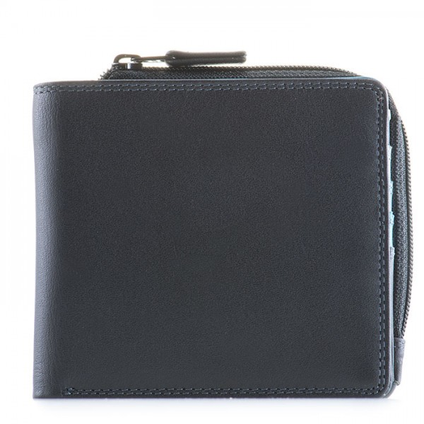 Standard Wallet w/Zip Section Black Smokey Grey