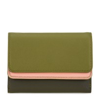 Double Flap Purse/Wallet Olive