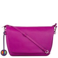 Bruges Flapover Cross Body Fuchsia