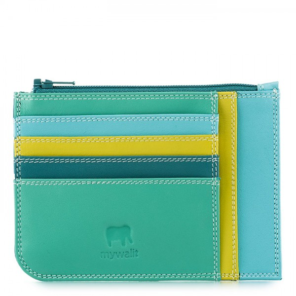 Slim Credit Card Holder with Coin Purse Mint