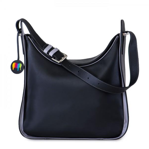 Hobo-Bag Amarante Schwarz