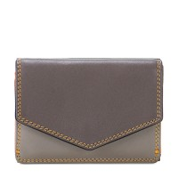 Tri-fold Leather Wallet Fumo