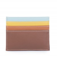RFID Double Sided Credit Card Holder Mocha