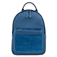 Havana Small Leather Backpack Denim