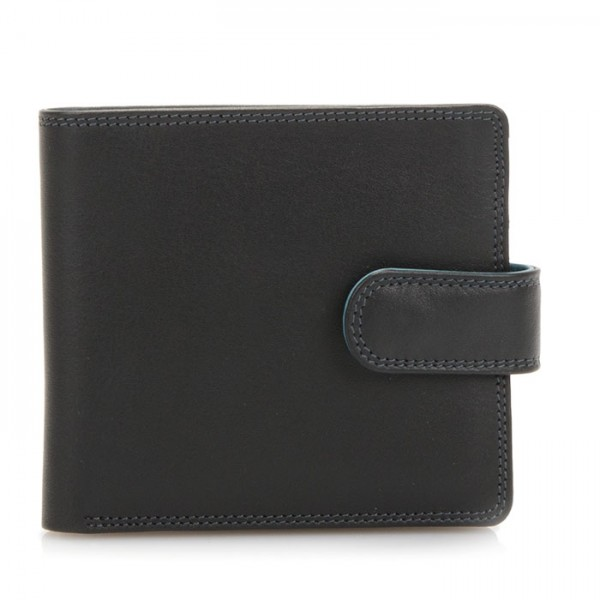 Tab Wallet w/inner leaf Black Smokey Grey