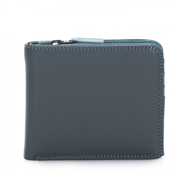 Wallet w/Middle Zip Section Smokey Grey