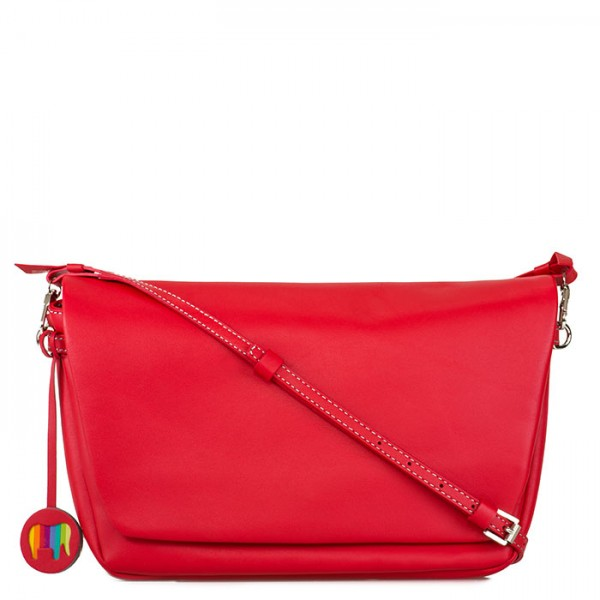 Bruges Flapover Cross Body Red