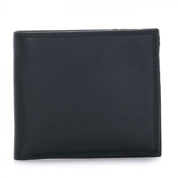 Classic Wallet w/Zip Section Black