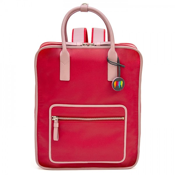 Montreal Leather Backpack Strawberry