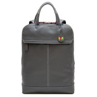 Slim Leather Backpack Storm