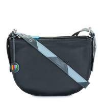 Riga Half Moon Bag Black Smokey Grey
