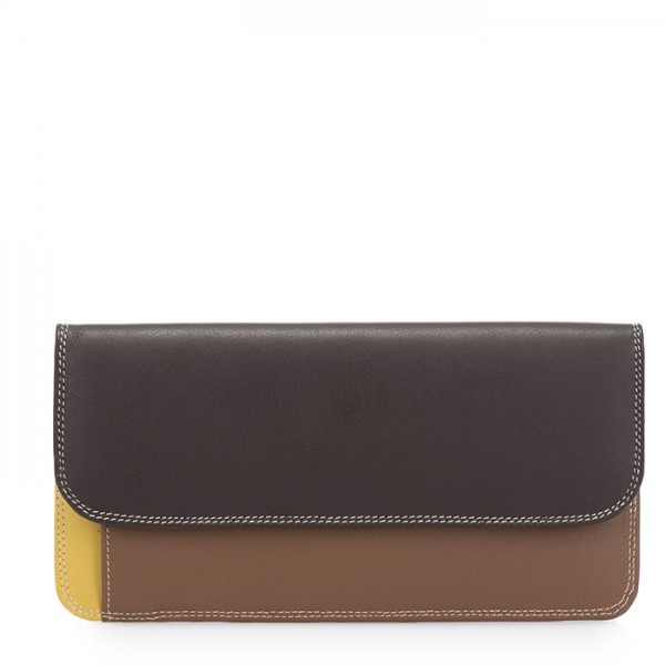 Simple Flapover Purse/Wallet Mocha