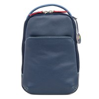 Office Small Leather Cross Body Backpack Royal