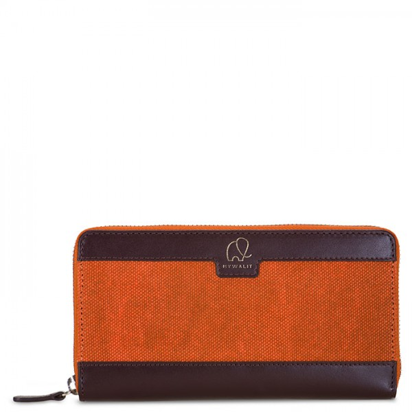 Matera Zip Around Purse Chestnut
