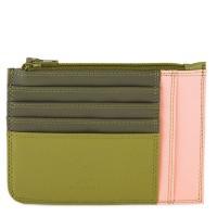 Porta carte di credito slim con portamonete Oliva
