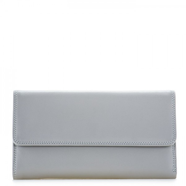 RFID Tri-fold Zip Wallet Grey