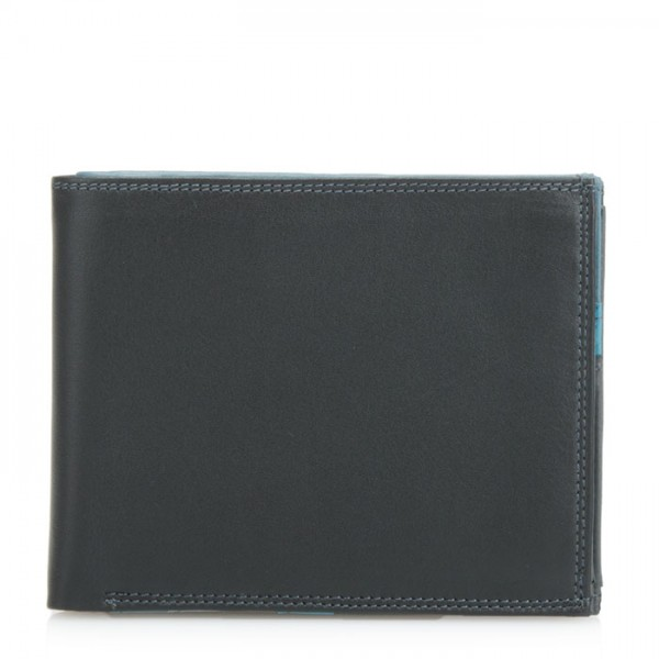Medium Men's Wallet Black Smokey Grey