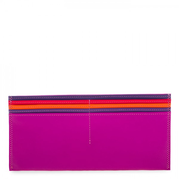 Large Leather C/C Bill Holder Sangria Multi