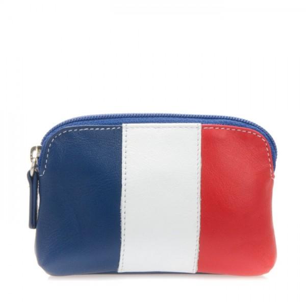 Portamonete con bandiera Francia