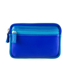 Small Leather Double Zip Purse Seascape